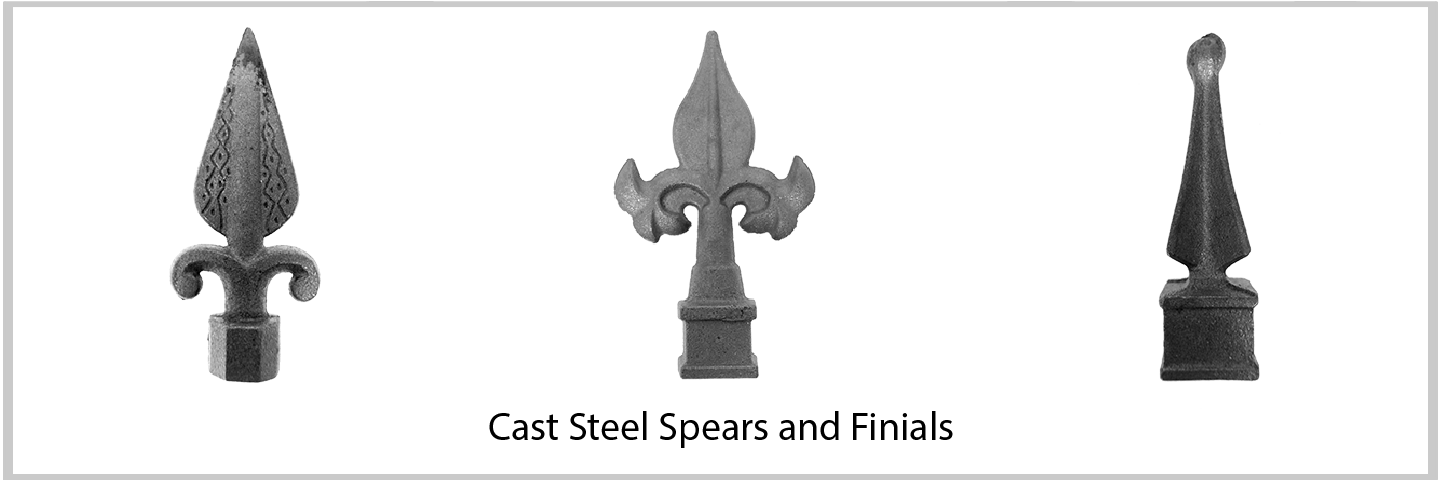 Cast Iron Spears & Fineals. Wide Variety and Excellent Quality from Superior Ornamental Supply.