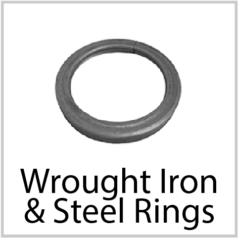 Steel Rings. Wide variety and Excellent Quality from Superior Ornamental Supply.