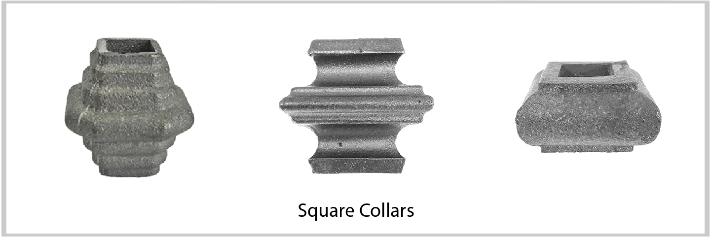 Square Collars. Excellent Quality from Superior Ornamental Supply.