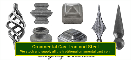 Cast iron ornamentals. Wide variety and Excellent Quality from Superior Ornamental Supply.