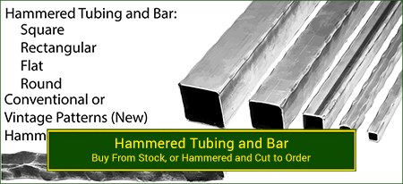 Hammered bar and tubing for wrought iron installations. Wide variety and Excellent Quality from Superior Ornamental Supply.