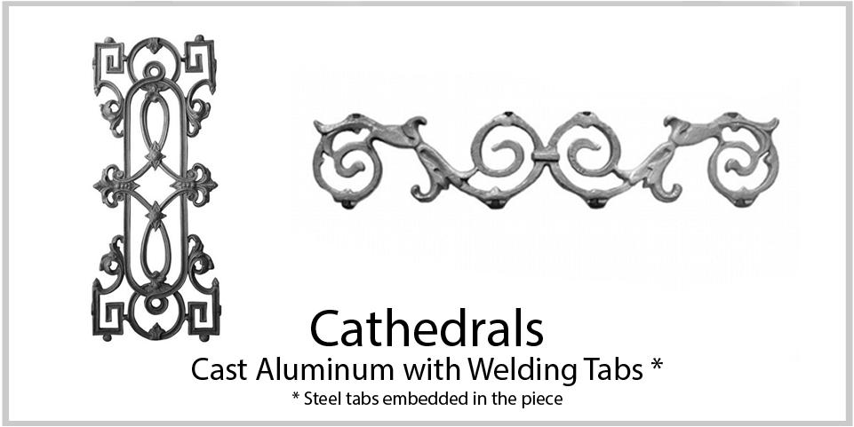 Aluminum castings - Cathedrals. Wide variety and Excellent Quality from Superior Ornamental Supply.