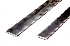 Hammered Flat Bar - 2 Corners - 20 ft Length - Price Varies with Size