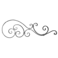 Forged Steel Wrought Iron Scroll Panels 70-190