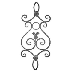 Forged Steel Wrought Iron Scroll Panels 70-230