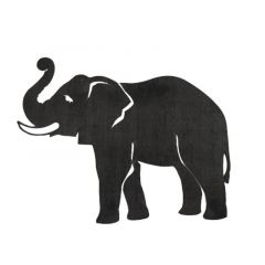 Cut Steel Elephant
