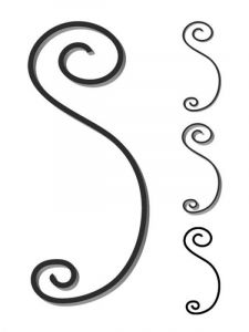 Custom steel scroll forged to customer's design and size. Design FCSN-01. This and other wrought iron scrolls forged to any size in any quantity. Superior Ornamental Supply