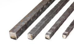 Hammered Square Bar - On the Flat - 20 ft Length - Price Varies with Size