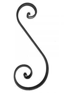 Steel Wrought Iron Scroll SSHFG Various Sizes