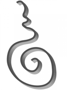 Flat Bar Scroll - Custom Art Nouveau Wrought Iron Scroll FCSA-01 Superior Ornamental Supply