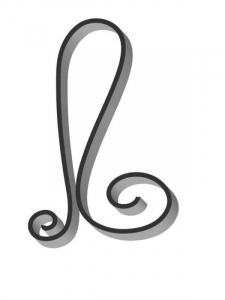 Flat Bar Scroll - Custom Art Nouveau Wrought Iron Scroll FCSA-06 Superior Ornamental Supply