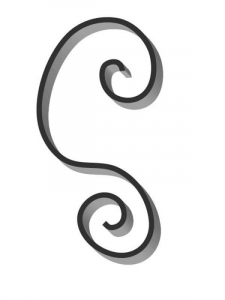 Flat Bar Scroll - Custom Newport Wrought Iron Scroll - FCSN-02 Superior Ornamental Supply