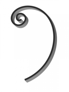 Flat Bar Scroll - Custom Traditional Wrought Iron Scroll FCST-01 - Superior Ornamental Supply