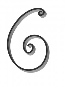 Flat Bar Scroll - Custom Traditional Wrought Iron Scroll FCST-02- Superior Ornamental Supply