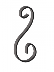 This custom forged steel scroll follows a popular design from scrolls we keep in inventory. SS80-A-11CS This and other wrought iron scrolls forged to any size in any quantity. Superior Ornamental Supply