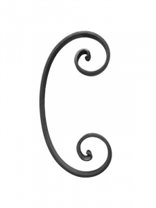Steel Wrought Iron Scroll SCH - Various Sizes