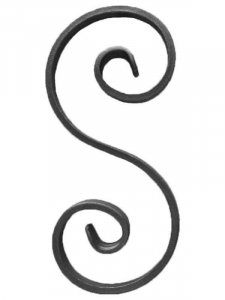 Steel Wrought Iron Scroll SSE80-A-Various Sizes