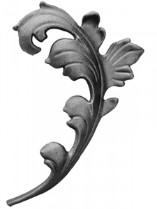 Cast Steel Leaves and Ornaments 55-573