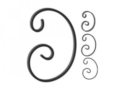 This custom forged steel scroll follows a popular design from scrolls we keep in inventory. SUI70-954CS This and other wrought iron scrolls forged to any size in any quantity. Superior Ornamental Supply