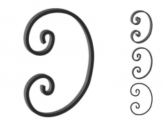 This custom forged steel scroll follows a popular design from scrolls we keep in inventory. SUI70-948CS This and other wrought iron scrolls forged to any size in any quantity. Superior Ornamental Supply